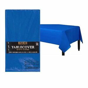 Solid Color Rectangle Plastic Table Cover Birthday Wedding Party ~ U PICK COLOR