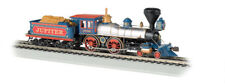 Bachmann-4-4-0 w/Wood Tender Load - Sound & DCC -- Central Pacific Jupiter