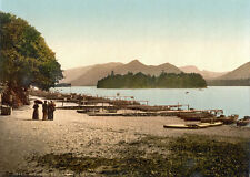 "P11 Vintage 1890's Photochrom Photo Derwent Water Lake District Print 17""x12"""