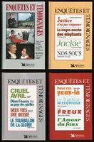 Lot de 4 livres : ENQUETES et TEMOIGNAGES Sélection du Reader's Digest RELIES