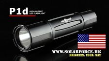 NEW Solarforce P1d Black Mil-Spec Tactical Flashlight Host