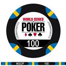 Fiches Ceramica WSOP World Series of Poker Valore 100