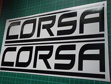 Vinilo coche Corsa Panel Falda Adhesivo Calcomanía x2