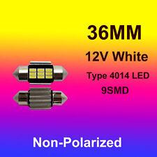 2 x 12V LED 36MM Festoon Interior Car Auto 4014 9SMD Light Bulb White Dome Globe