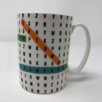 Lenox Kate Spade Say The Word Search 12 Oz Coffee Mug Ceramic Cup