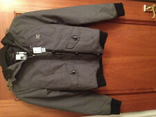 Womens Grey DC Shoes parka coat NEW - size extra small ^