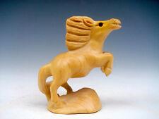 BOJ tallado a mano adorno Escultura Miniatura Caballo Corriendo PATAS ARRIBA