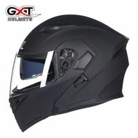 DOT Double Visor Motorcycle Flip Up Helmet Motorcycle Full Face Helmets GXT