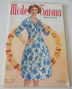 Magazine Modes & Travaux Mai 1958