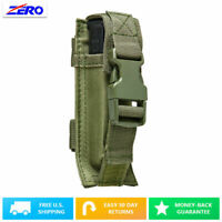 Green Single Pistol Double Stack Magazine Clip Pouch MOLLE Gear PALS Belt PVC