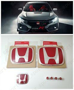 Type-R Red H Emblem Front Rear Steering Fit For 2016-2020 Honda CIVIC HATCHBACK