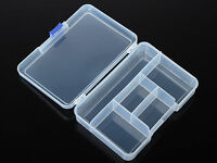 5 Compartment Small Organiser Plastic Storage Box Craft Nail Beads Jewelry Tool