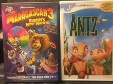 Madagascar 3: Europe's Most Wanted& Antz Dreamworks Double Feature! LIKE NEW!!