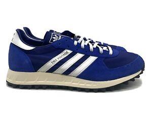 Adidas TRX Vintage Men's Size 11.5 Retro Tennis  Shoe Blue White Black Sneaker