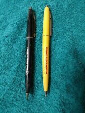 2 x Vintage Kodak Advertising Pens 1950's-1980's from estate black & yellow lot2
