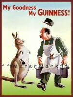 My Goodness My Guinness Zookeeper Advertising Vintage Poster Print Retro Style