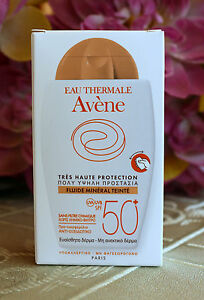 Avène tinted Mineral Fluid 40ml-1.35Fl.Oz.SPF 50+  Very high protection.