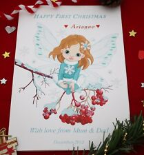 Large Personalised Baby Fairy Christmas Card