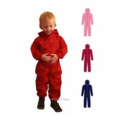 REGATTA KIDS PUDDLE RAINSUIT QUALITY WATERPROOF ALL IN ONE BOY GIRL TODDLER BABY