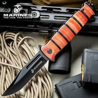 USMC Combat Fighter Folding Hunting Camping Tactical Pocket Knife with Clip -New