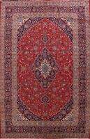 Vintage Floral Traditional Ardakan Area Rug Hand-knotted Wool Large Carpet 10x13