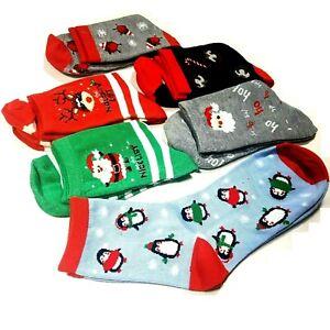 Ladies Christmas Socks Pair Girls Kids Xmas Fashion Stocking Novelty Size 4-8 UK