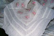 Tagesdecke LOUISA 180x260 cm Grau Rosa Sofaüberwurf Landhaus Plaid Vintage