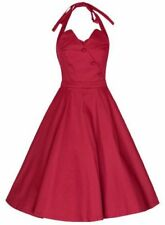 LINDY BOP NEW VINTAGE 50'S STYLE RED MYRTLE DRESS SIZE 14