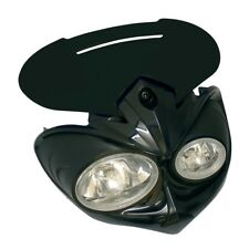 MOTORCYCLE FALCON UNIVERSAL FAIRING HEADLIGHT STREETFIGHTER OFF ROAD BLACK/BLACK