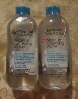 2 Garnier SkinActive Micellar Cleansing Water For Waterproof Makeup 13.5 fl oz