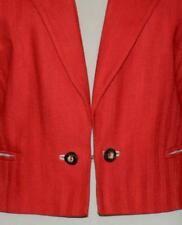 Red Women Linen German Short Summer Hunting Riding Dress Suit Coat Jacket / 8 S