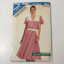 See & Sew 6163 Size 6-14 Misses' Dress