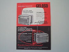 advertising Pubblicità 1963 GELOSO TV SONIC G 3330/RADIO EXPLORER G 3331