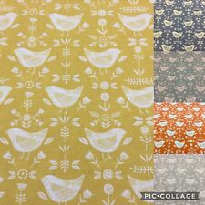 NEW* Fryetts NARVIK, Scandi Style Birds Cotton Fabric,Curtain/ Upholstery/Crafts