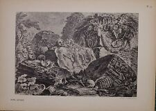 ANTIQUE PIRANESI PRINT 100 YEARS OLD from VIEWS of ROME AUTEL ANTIQUE