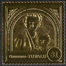 Tuvalu 1988 GOLD/Queen Elizabeth II/Royalty/QE II/Wedding/Victoria 1v (n42913)