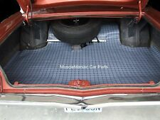 1967 Plymouth Fury, Sport Fury HT RUBBER TRUNK MAT Plaid Pattern 67