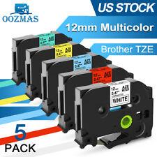 Tz 231 Tze 231 Pt D210 5 Pk Compatible Label Maker Tape 12mm For Brother P Touch