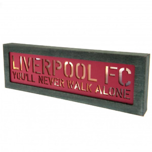 Liverpool FC Light Up Wooden Sign