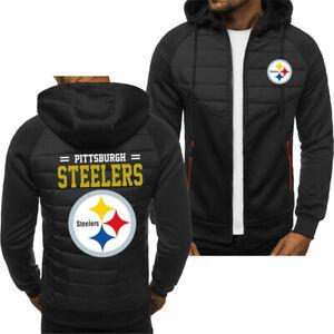 Pittsburgh Steelers Hoodie Classic Autumn Hooded Sweatshirt Jacket Coat Top Tops