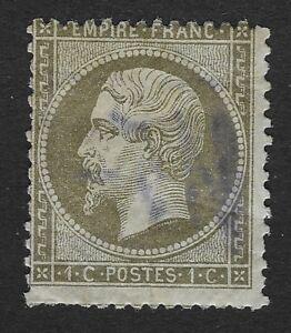 France,  1853-1861 Emperor Napoleon III . 1c   Olive Green (BX1)
