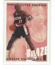 1993-94 FLEER BASKETBALL CLYDE DREXLER CAREER HIGHLIGHTS #1 OF 12 TRAIL BLAZERS