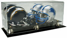 NEW Saf-T-Gard Double NFL Mini Football Helmet Deluxe Acrylic Display Case AD11