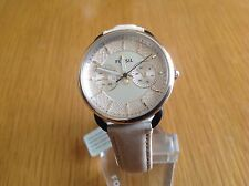 Fossil Ladies Taylor Multi Function Rose Dial Beige Leather Watch ES3807