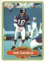 1980 Topps Football Card #454 Joe Danelo - NM