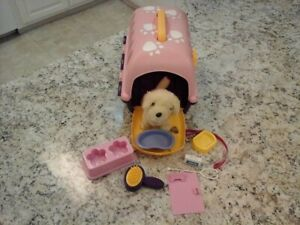 Plush Dog Playset Carrier and accessories. Great condition. Used.