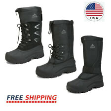 US Men's Waterproof Winter Snow Boots Fur Liner Lightweight Outdoor Tall Booties