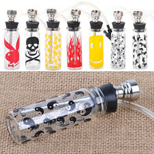 Mini Smoking Glass Water Tobacco Hookah Shisha Tube Filter Cigarettes Cigar Vase