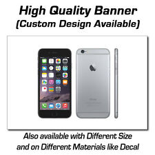 3ft x 2ft Black iPhone 6 Sign - Popup or Decal