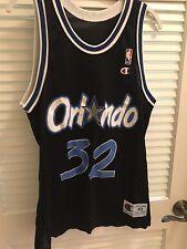 Shaquille Shaq O'Neal Orlando Magic #32 NBA Champion Jersey Size 40 Med Vintage